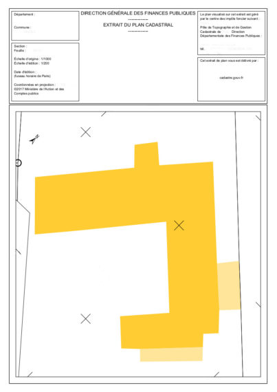 Plan cadastral feng shui